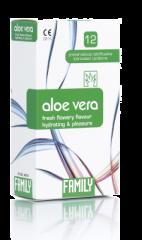 Family Aloe Vera kondomi kuivuuteen 12 kpl