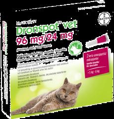 DRONSPOT VET 96/24 mg paikallisvaleluliuos (suurille kissoille)2x1,12 ml